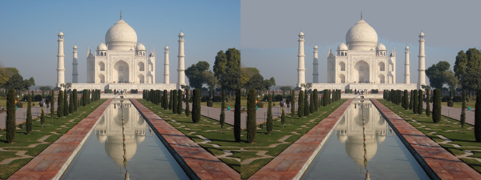 Taj Mahal Flood Fill